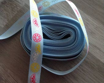 Ribbon GROSGRAIN sold by the yard citrus 10mm