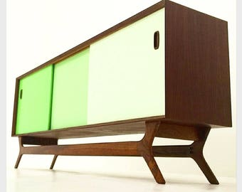 Color Block Mid Century Style Credenza