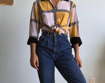 Cute size sm button up shirt