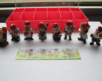ü-EI Series 8 dwarfs of 1992, complete, very good condition, hand painted