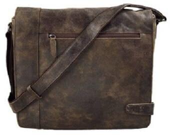Shoulder bag, leather, brown