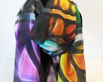 Traditional Large Silk Scarf