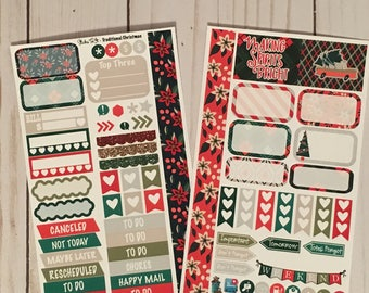 Traditional Christmas Medium Personal MM Stickers Louis Vuitton Mambi Inkwell Press Filofax Kikki K Happy Life Planner LV holiday winter