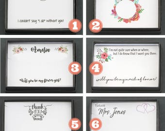 Wedding Gift Box Bridesmaid Gift Will You Be My Bridesmaid Gift Wrap • Custom Box Quote Wedding • Maid of Honor Gift Necklace Box
