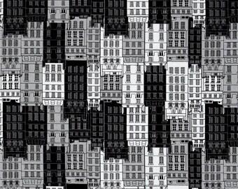 Kanvas Kanvas Britain's Best City Flats Black/Gray Fabric British Theme Fabric Novelty Fabric Designer Fabric Streets of London Fabric