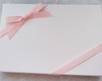 Presentation box with Coordinating Ribbon for handmade albums