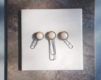 Vintage Button Bookmark Paperclips