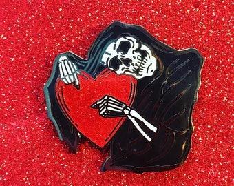 Grim Reaper holding Glitter Heart