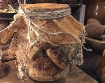 Primitive Pantry Jar Pantry Biscuits Cupboard Tuck Early Look Farmhouse
