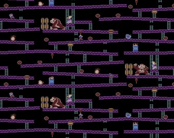 Nintendo Retro Donkey Kong Cotton fabric