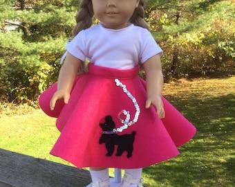 Poodle skirt for 18 inch dolls