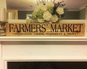 Farmhouse farmers market wooden sign shappy christmas