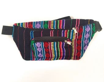 Black / multicolour Bumbag