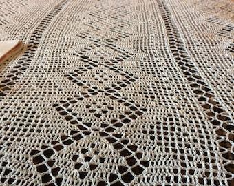 Handmade crochet afghan