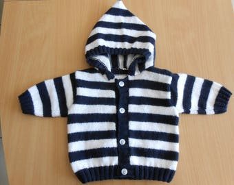 vest with hood for baby size 3 months