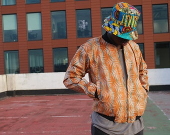 African Bomber Jacket - Winter Jacket - African Jacket - Wax Print Jacket - Festival clothing - Festival Jacket - African Coat -