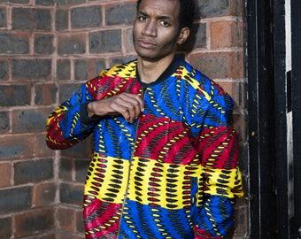 Bomber Jacket - Winter Jacket - Festival Jacket - Patterned Jacket - Winter Coat - Festival clothing - African Jacket - Colourful jacket