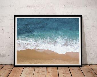 Ocean Printable, Ocean Print, Ocean Printable Art, Ocean Wall Art, Ocean Wave Print, Wave Wall Art, Wave Printable, Sea Print, Sea Water