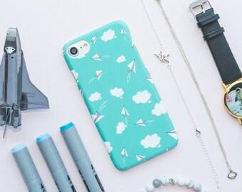 Aqua Paper Planes iPhone Case - iPhone 7 Case, iPhone 7 Plus Case, iPhone 6 Case, iPhone 6s Case, iPhone 6 Plus Case, iPhone 6s Plus Case