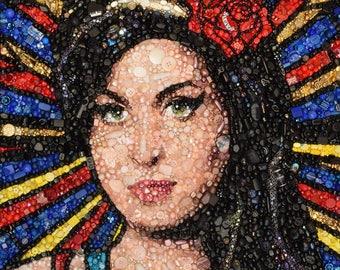 Amy Winehouse Giclée Print 38 x 38cm