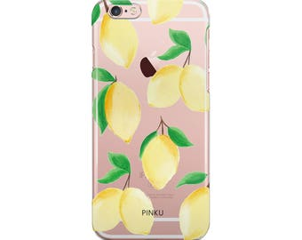 Lemons Clear Phone Case, Lemons iPhone 7 Case, Lemons iPhone 6 Case, Lemons iPhone 6s Case, Summer phone case,