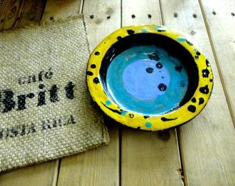 plate or plate - ceramic - the unique piece home decor table art - handmade