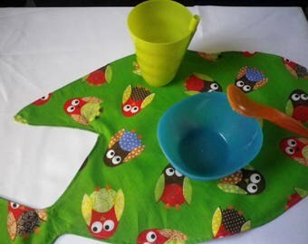 SET of TABLE Green fish print for kids - gift idea