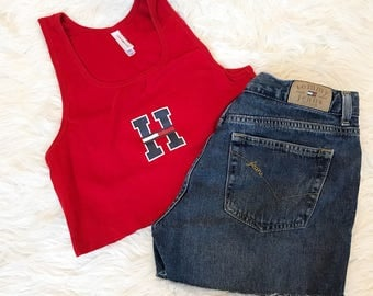 Tommy crop top ribbed tank
