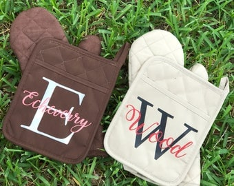Personalized Pot Holder Set