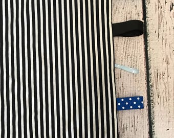 Sensory/Security Taggie Baby Blanket - RIE/Waldorf/Montessori Inspired