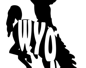 Wyoming Bucking Horse WYO Steamboat Decal