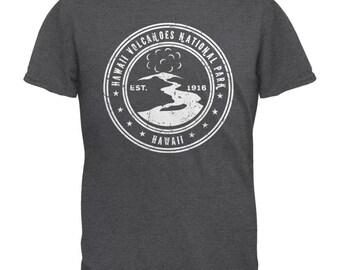 Hawaii Volcanoes National Park Dark Heather Adult T-Shirt