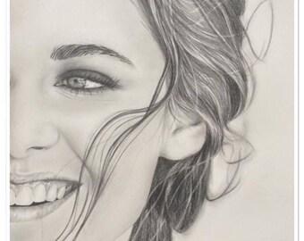 """pencil portrait graphite """"Kristen Stewart"""""""