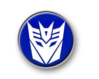 "TRANSFORMERS / 1"" / 25mm pin button / badge / Marvel / Autobots / Decepticons / Optimus Prime / Megatron / Bumblebee / Starscream"