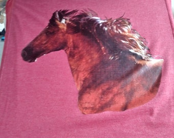 3 Dollar Printed Tank Tops, Brown Stallion , Size Large