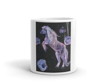 Mug - horse in the galaxy
