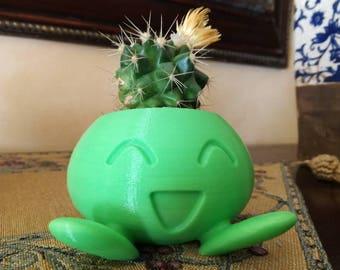Pokemon Oddish Planter printed 3D. Pokemon Myrapla/Succulent Planter/ Mystherbe Pokemon Planter/For Her/For Him/Gardening/Indoor Planter