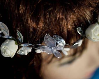 """Flower Crown model """"Silver fairy"""""""