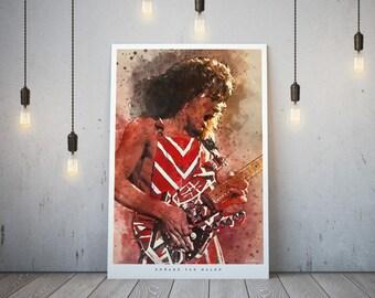 Eddie Van Halen Art Print and poster
