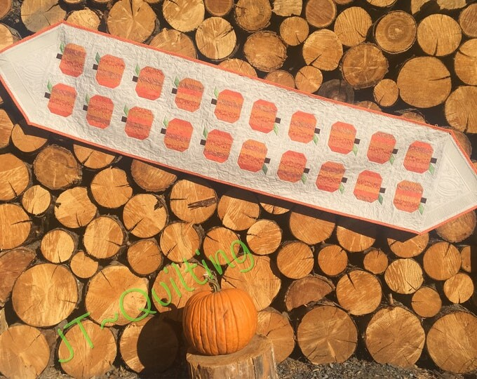 The Pumpkin Patch, Tablerunner, Centerpiece, Quilts, Modern Decor, Fall Decor,