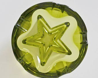 Vintage Green Starburst Ashtray