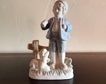 Little Shepard Boy with Lamb Porcelain Figurine