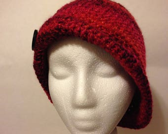 Cloche style Crocheted Downton Abbey inspired hat