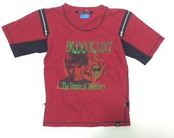 Bloodlust The Vampire Of Nurembery punk shirt japanese brand small size