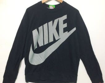 Vintage NIke Big Swoosh Logo Black Color
