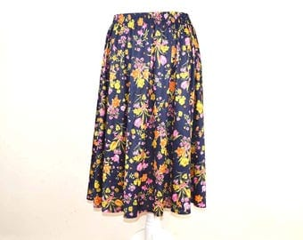Vintage Skirt, Size 14-16, Floral Skirt, Boho Style, Midi Skirt, 90s Grunge, Maxi Skirt, Floaty Skirt, Vintage Gift, 90s Style