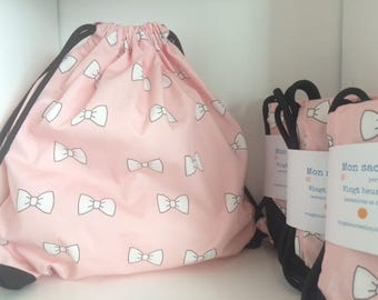 Backpack pink bow