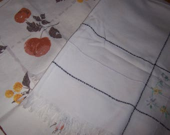 two luncheon vintage tablecloths