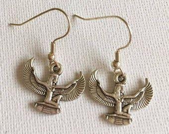 Isis Earrings Egyptology Pagan