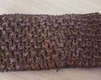 Large and soft crocheted Brown headband dark for tutus, dresses, hair accessory